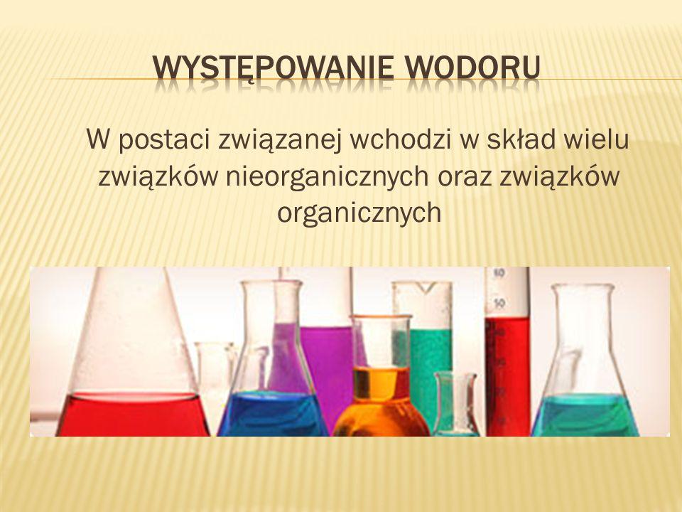 W postaci związanej wchodzi w skład wielu związków nieorganicznych oraz związków organicznych