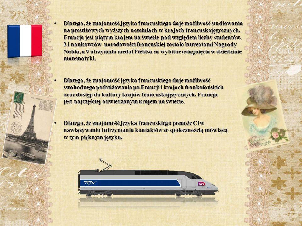 Nauka języka francuskiego w II LO im.K.K. Baczyńskiego rozpoczęła się w roku szkolnym 2003/2004.