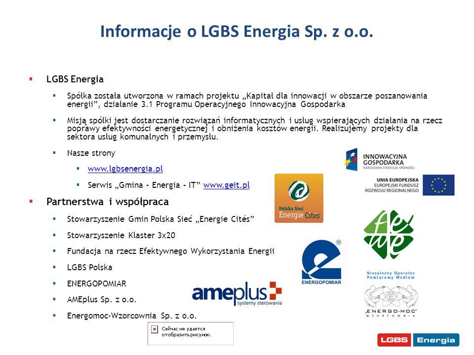 LGBS Energia Spółka została utworzona w ramach projektu Kapitał dla innowacji w obszarze poszanowania energii, działanie 3.1 Programu Operacyjnego Inn