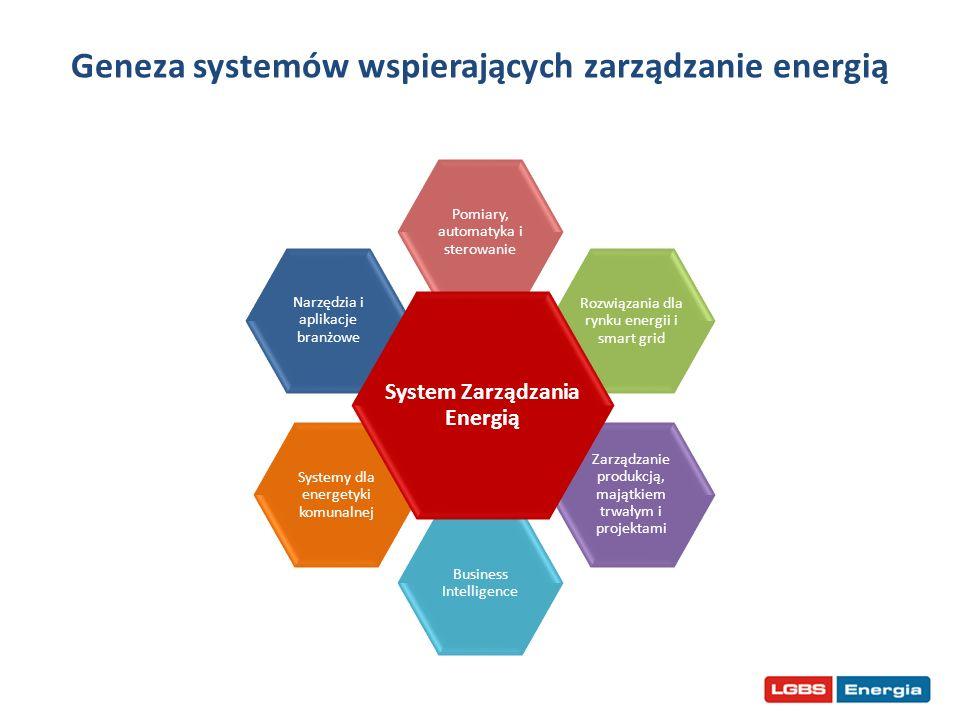 Geneza systemów wspierających zarządzanie energią Narzędzia i aplikacje branżowe Pomiary, automatyka i sterowanie Rozwiązania dla rynku energii i smar