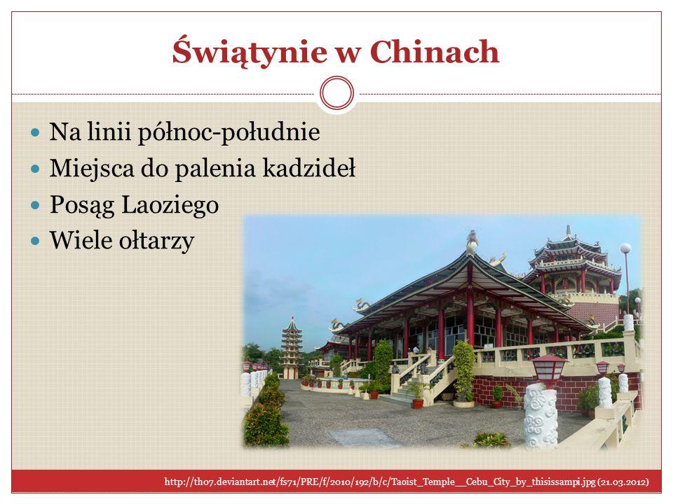 Świątynie w Chinach Na linii północ-południe Miejsca do palenia kadzideł Posąg Laoziego Wiele ołtarzy http://th07.deviantart.net/fs71/PRE/f/2010/192/b