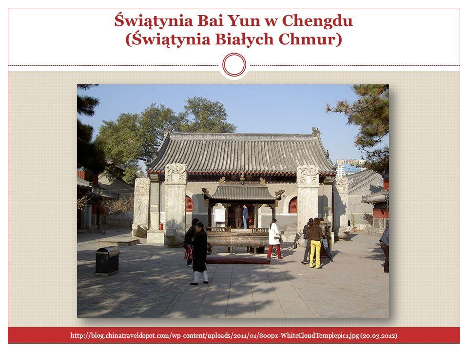 Świątynia Bai Yun w Chengdu (Świątynia Białych Chmur) http://blog.chinatraveldepot.com/wp-content/uploads/2011/01/800px-WhiteCloudTemplepic1.jpg (20.0