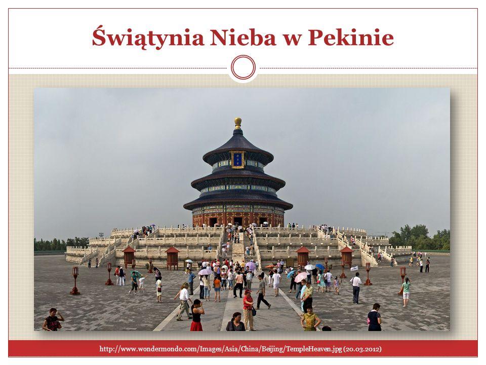 Świątynia Nieba w Pekinie http://www.wondermondo.com/Images/Asia/China/Beijing/TempleHeaven.jpg (20.03.2012)