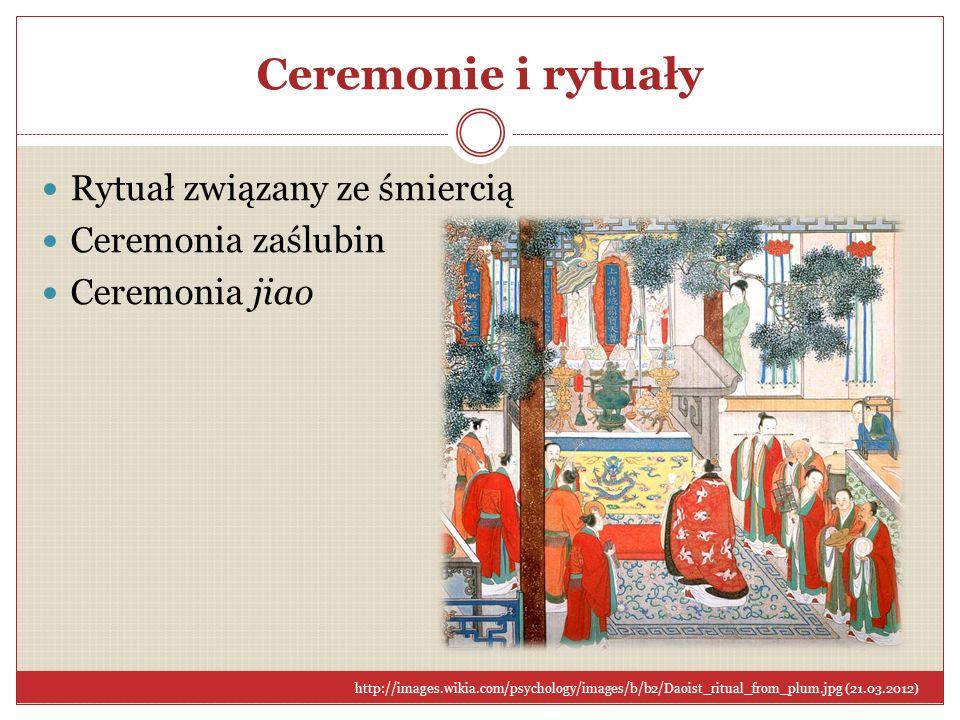 Ceremonie i rytuały Rytuał związany ze śmiercią Ceremonia zaślubin Ceremonia jiao http://images.wikia.com/psychology/images/b/b2/Daoist_ritual_from_pl