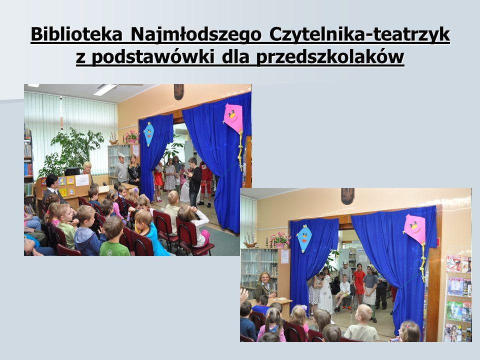 Biblioteka Najmłodszego Czytelnika-teatrzyk z podstawówki dla przedszkolaków