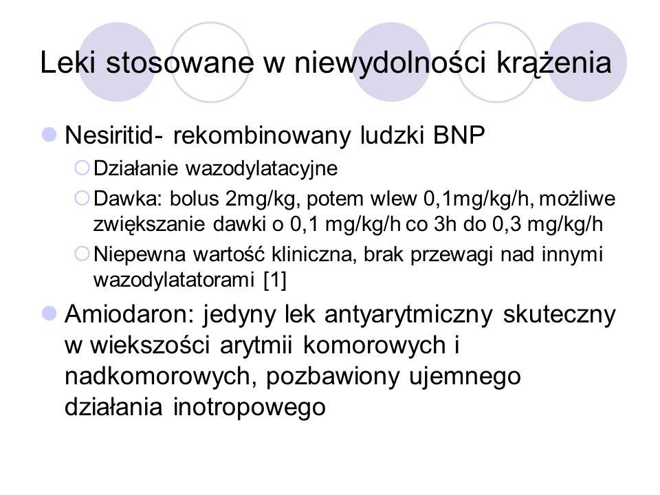 Leki stosowane w niewydolności krążenia-katecholaminy Dobutamina-syntetyczna katecholamina działająca na rec.