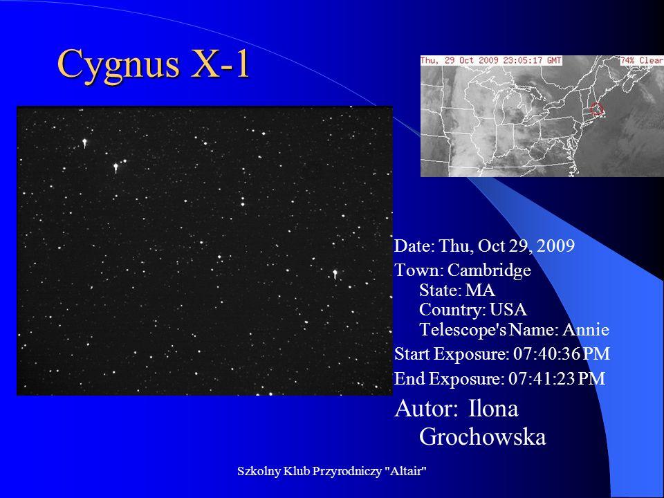 Szkolny Klub Przyrodniczy Altair NGC 253 Autor: Mikołaj Sakowski Date: Thu, Oct 29, 2009 Town: Amado State: AZ Country: USA Telescope s Name: Cecilia Start Exposure: 10:35:22 PM.