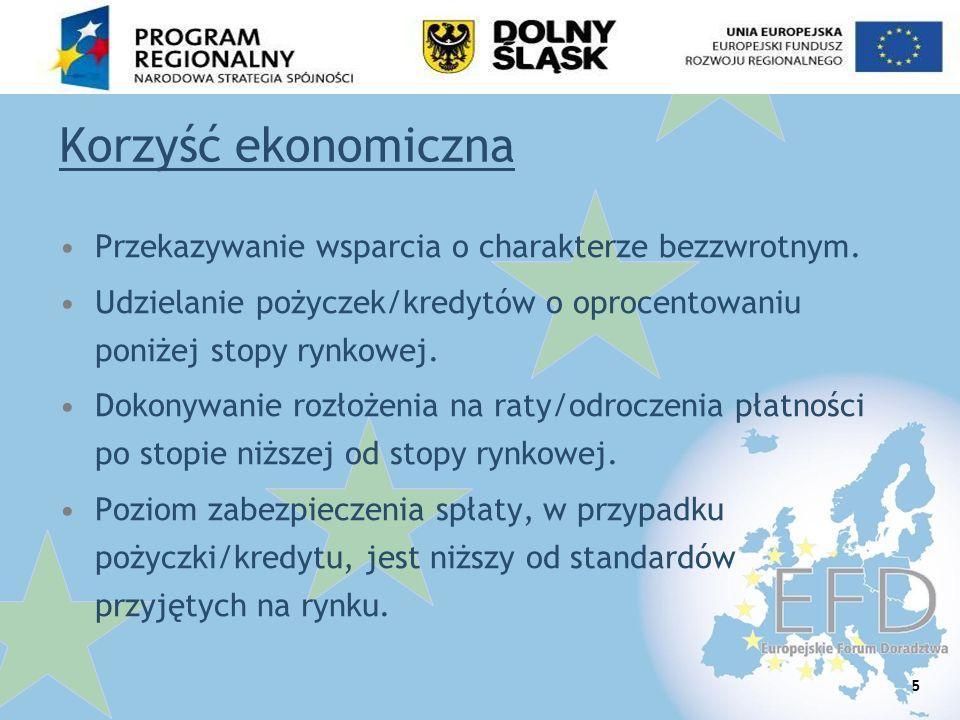 6 Selektywność Konkretny podmiot gospodarczy.