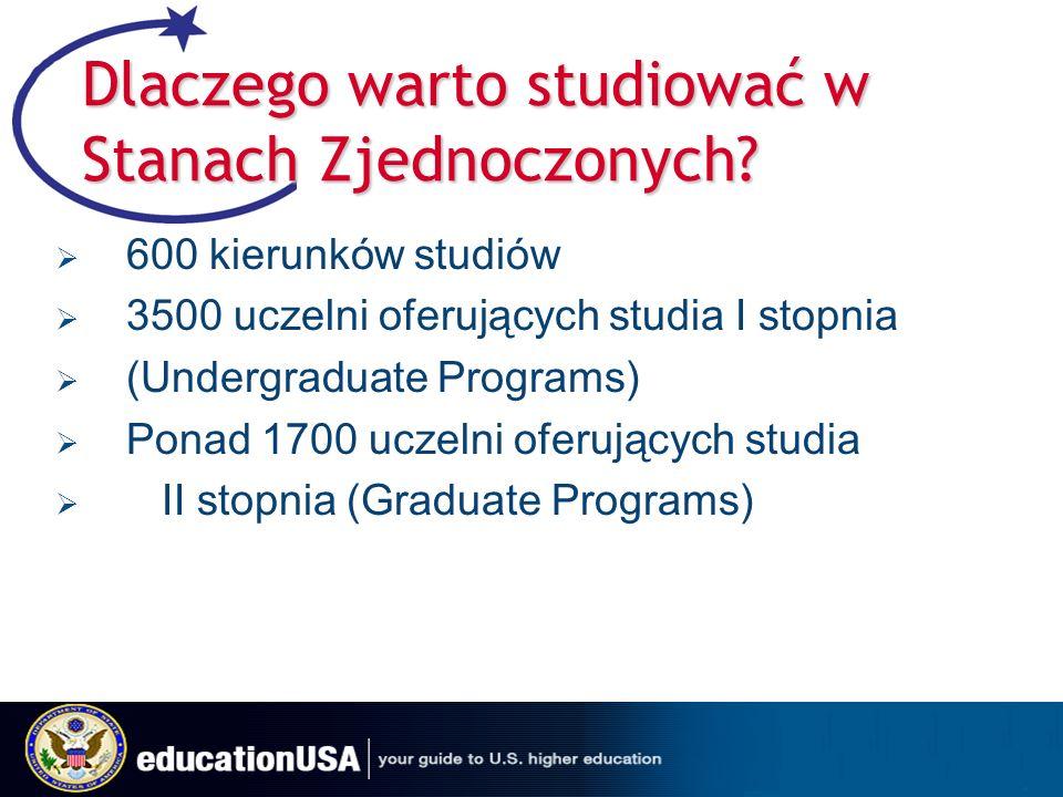 Dlaczego warto studiować w Stanach Zjednoczonych.