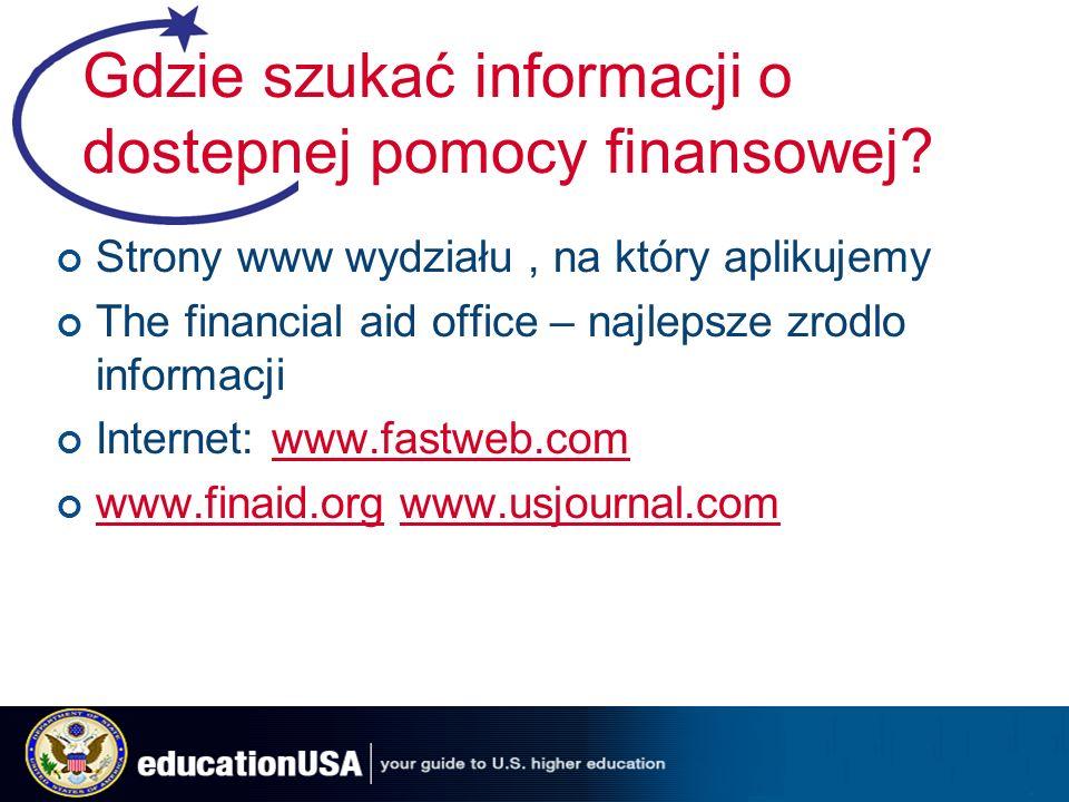 Gdzie szukać informacji o dostepnej pomocy finansowej.