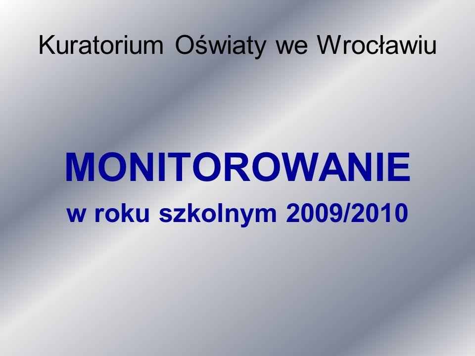 Kuratorium Oświaty we Wrocławiu MONITOROWANIE w roku szkolnym 2009/2010