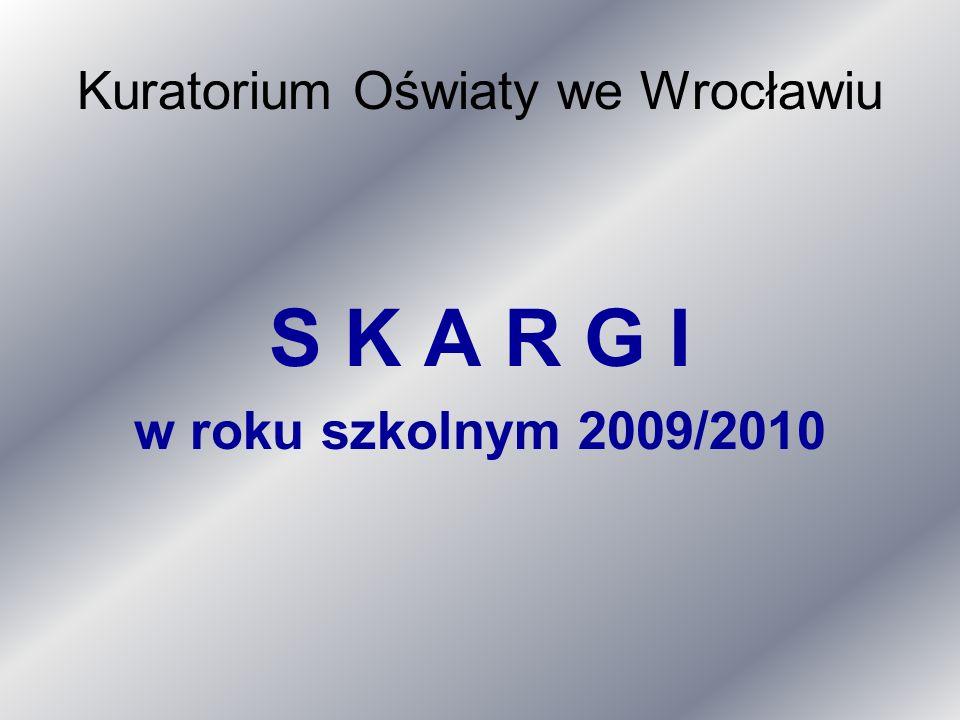 Kuratorium Oświaty we Wrocławiu S K A R G I w roku szkolnym 2009/2010