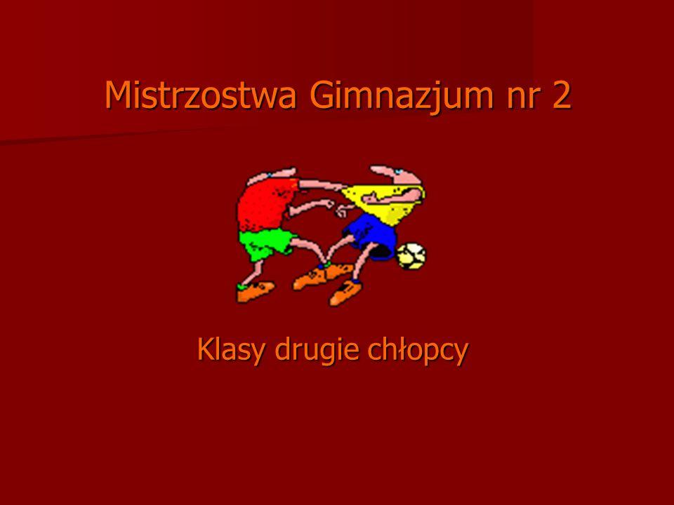 Mistrzostwa Gimnazjum nr 2 Klasy drugie chłopcy