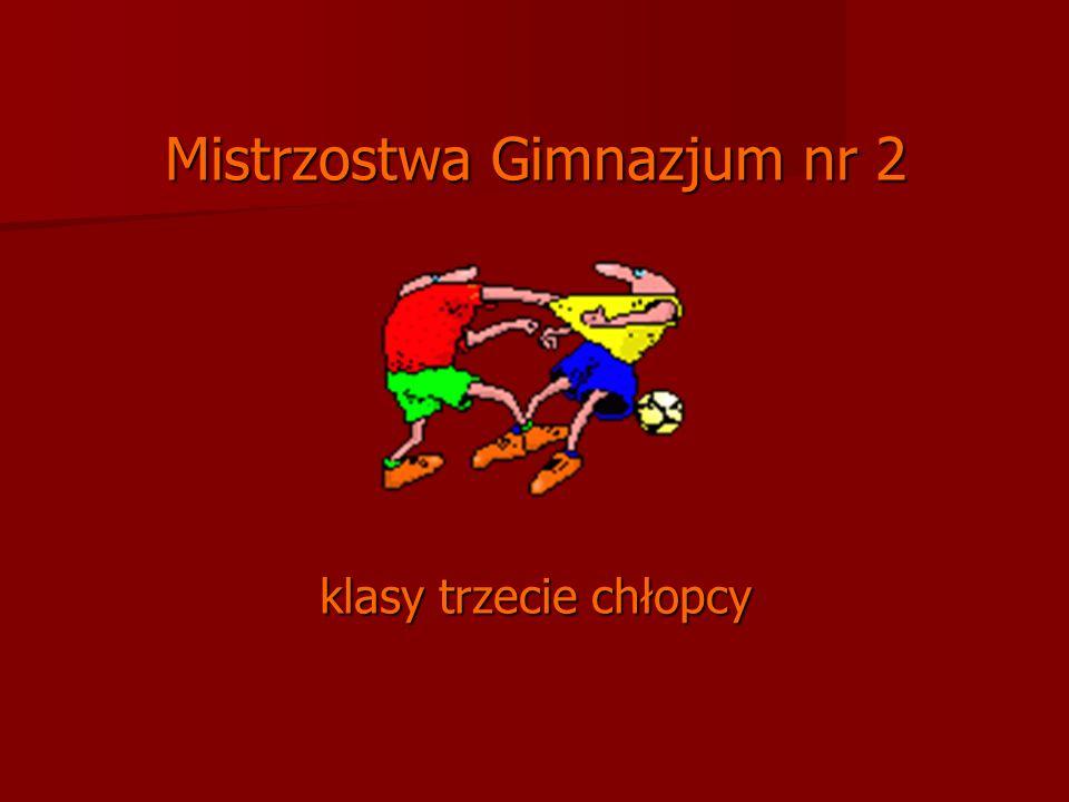 Mistrzostwa Gimnazjum nr 2 klasy trzecie chłopcy