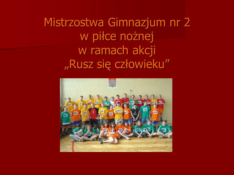 Mistrzostwa Gimnazjum nr 2 w piłce nożnej w ramach akcji Rusz się człowieku