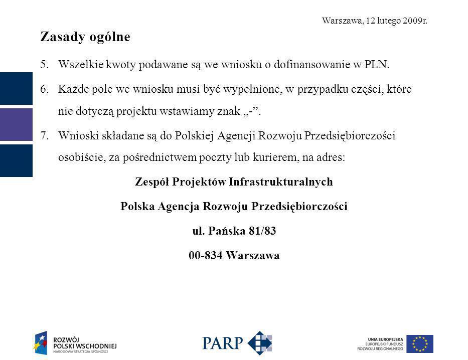 Warszawa, 12 lutego 2009r.Część B.