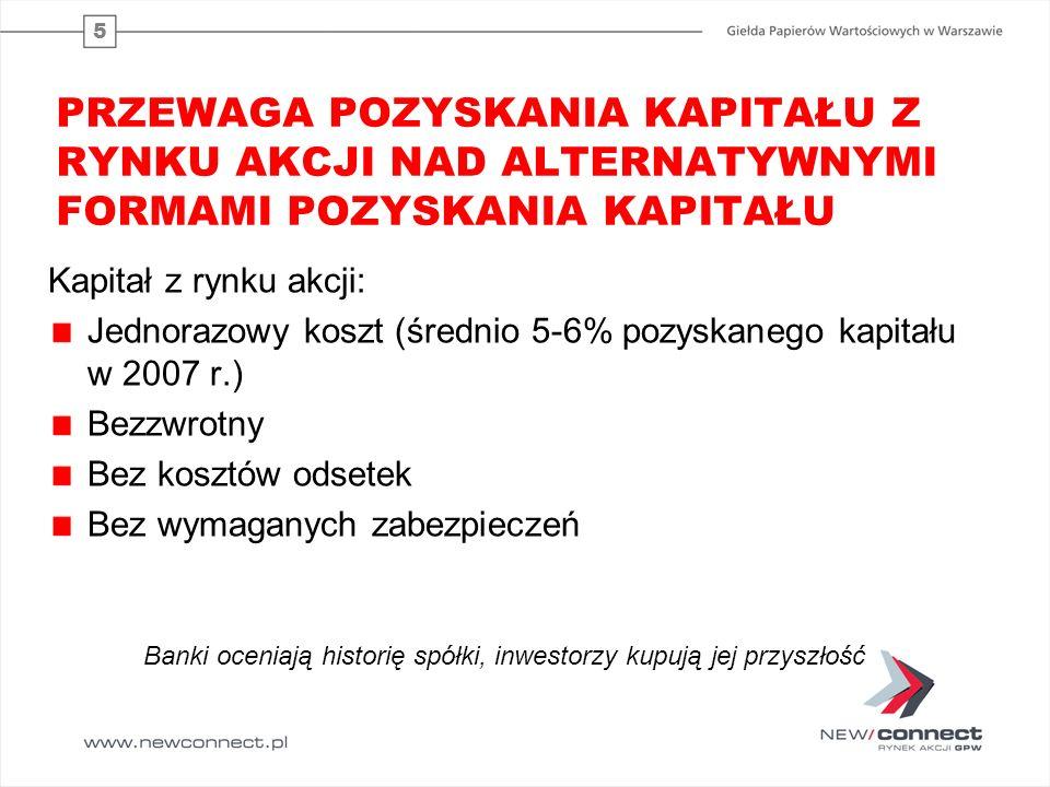 6 FUNDUSZE DOSTĘPNE NA RYNKU duża podaż kapitału (ponad 800 mld PLN) comiesięczny napływ nowych środków do OFE przepływ środków z rachunków bankowych do TFI zainteresowanie transzami detalicznymi IPO