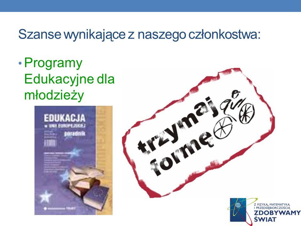 Szanse wynikające z naszego członkostwa: Programy Edukacyjne dla młodzieży