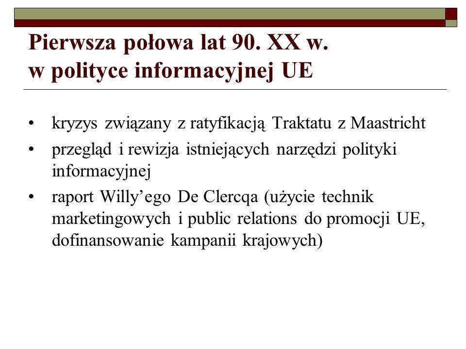 PRogramme dINformation du Citoyen Européen (PRINCE) inicjatywa Parlamentu Europejskiego po raz pierwszy w budżecie na rok 1996 linia budżetowa B3-306 (później rozbicie na kilka linii budżetowych) zadanie PRINCE: zagwarantowanie środków budżetowych na priorytetowe kampanie informacyjne skierowane do ogółu obywateli UE; kampanie miały uświadomić obywatelom korzyści wynikające z działalności UE
