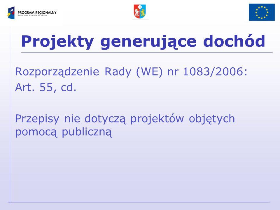 Projekt wniosku o dofinansowanie: Projekty generujące dochód D.6.