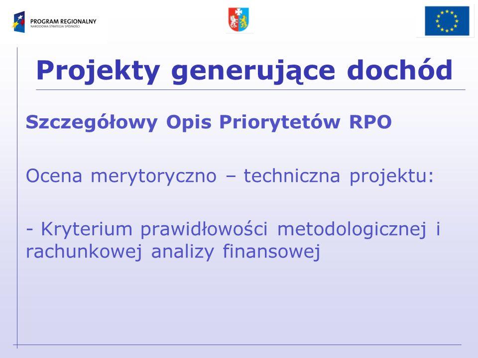 Metodologia dokonywania obliczeń Wytyczne Ministra Rozwoju Regionalnego z 19 września 2007 r.