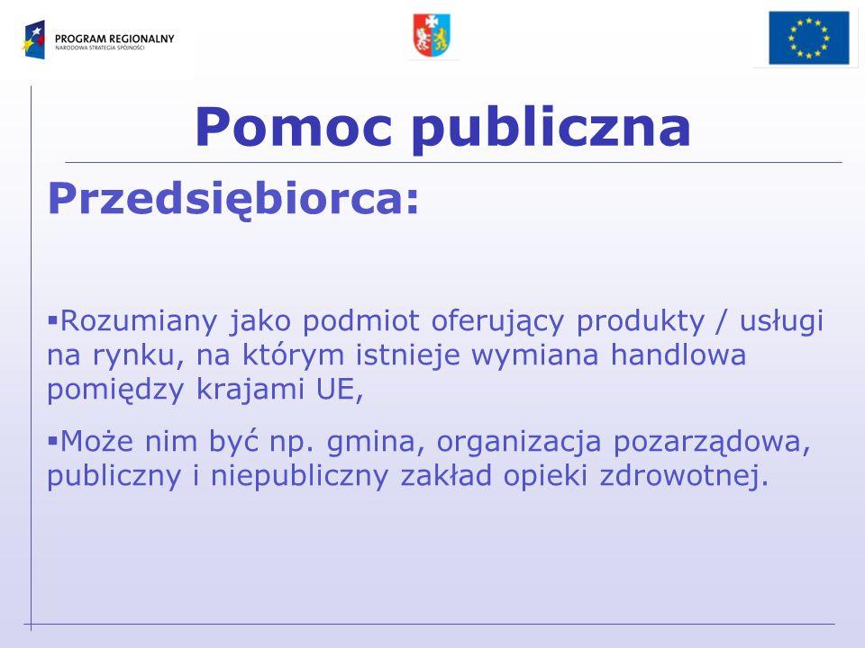 Pomoc publiczna Rozporządzenia nie wymagające notyfikacji Komisji Europejskiej: z dnia 11 października 2007 r.