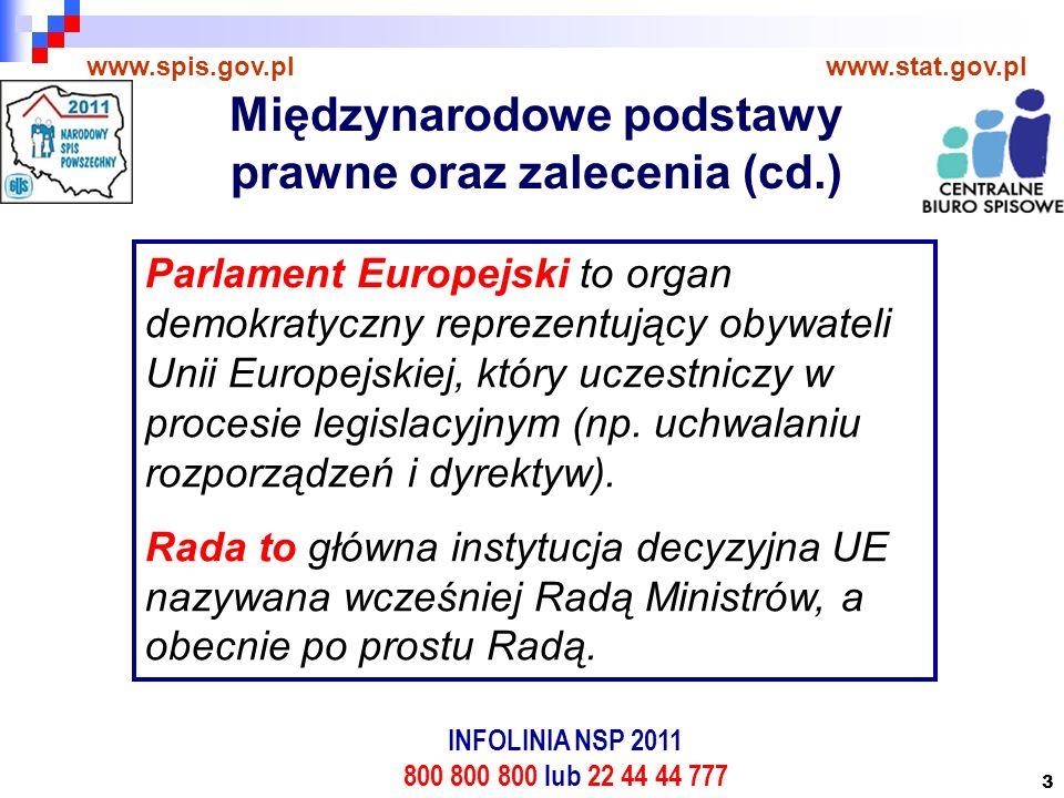 3 www.spis.gov.plwww.stat.gov.pl Parlament Europejski to organ demokratyczny reprezentujący obywateli Unii Europejskiej, który uczestniczy w procesie legislacyjnym (np.