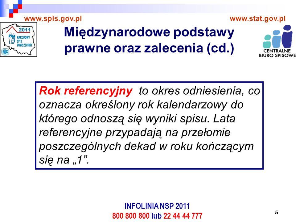 5 www.spis.gov.plwww.stat.gov.pl Rok referencyjny to okres odniesienia, co oznacza określony rok kalendarzowy do którego odnoszą się wyniki spisu.
