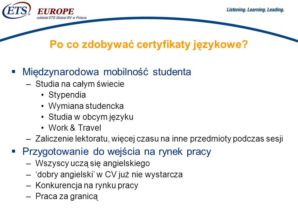 > Po co zdobywać certyfikaty językowe.