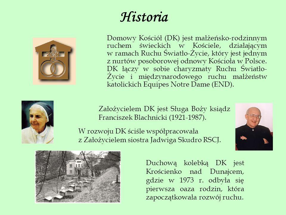 Historia Domowy Kościół (DK) jest małżeńsko-rodzinnym ruchem świeckich w Kościele, działającym w ramach Ruchu Światło-Życie, który jest jednym z nurtó