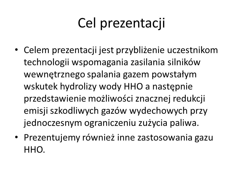 Jak wyprodukować i dostarczyć gaz HHO Gaz jest produkowany z wody poprzez elektrolizer wyłącznie w czasie pracy silnika (on request) korzystając z rezerw prądu alternatora 15-18% produkcja gazu odbywa się w czasie rzeczywistym i nie podlega gromadzeniu.