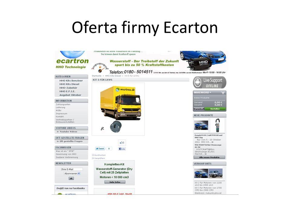 Oferta firmy Ecarton