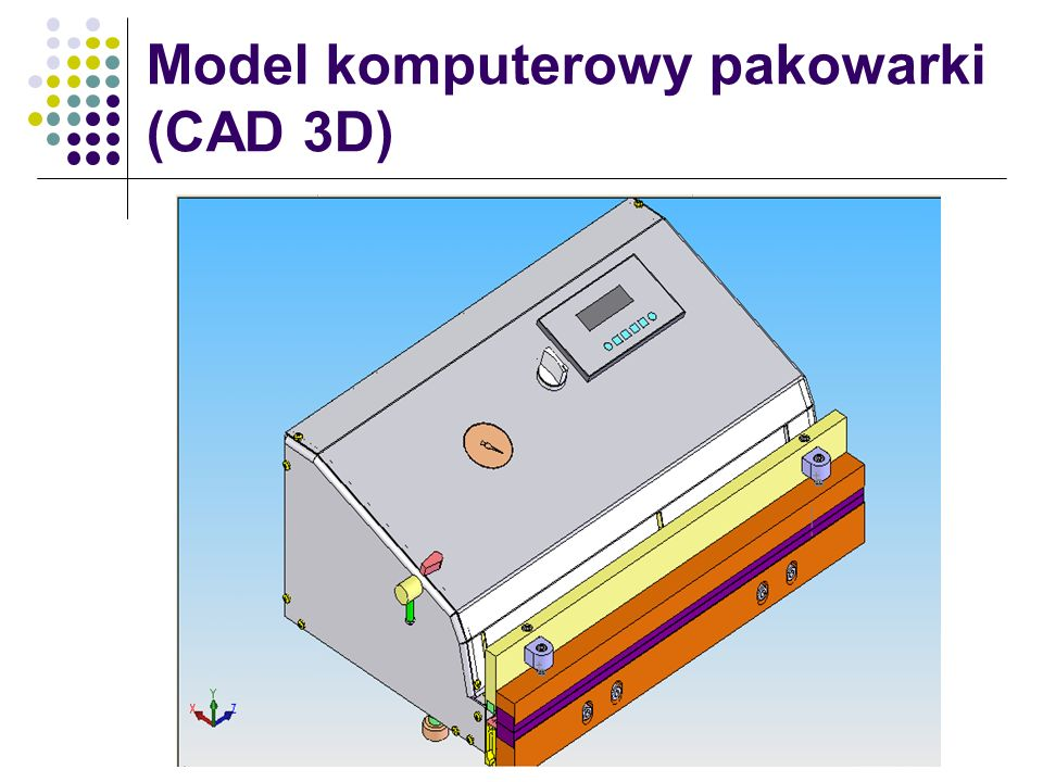 Model komputerowy pakowarki (CAD 3D)