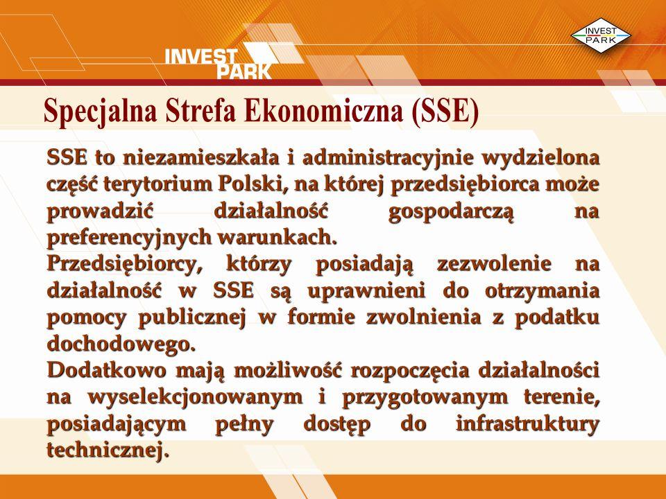 SSE to niezamieszkała i administracyjnie wydzielona część terytorium Polski, na której przedsiębiorca może prowadzić działalność gospodarczą na preferencyjnych warunkach.