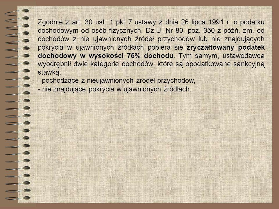 Zgodnie z art. 30 ust. 1 pkt 7 ustawy z dnia 26 lipca 1991 r. o podatku dochodowym od osób fizycznych, Dz.U. Nr 80, poz. 350 z późń. zm. od dochodów z