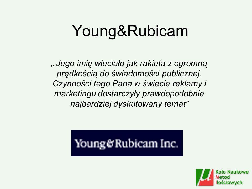 Young&Rubicam Jego imię wleciało jak rakieta z ogromną prędkością do świadomości publicznej. Czynności tego Pana w świecie reklamy i marketingu dostar