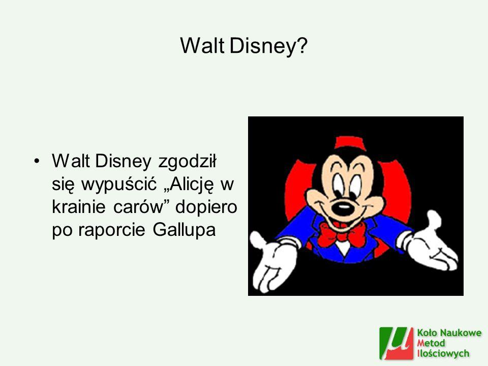 Walt Disney? Walt Disney zgodził się wypuścić Alicję w krainie carów dopiero po raporcie Gallupa