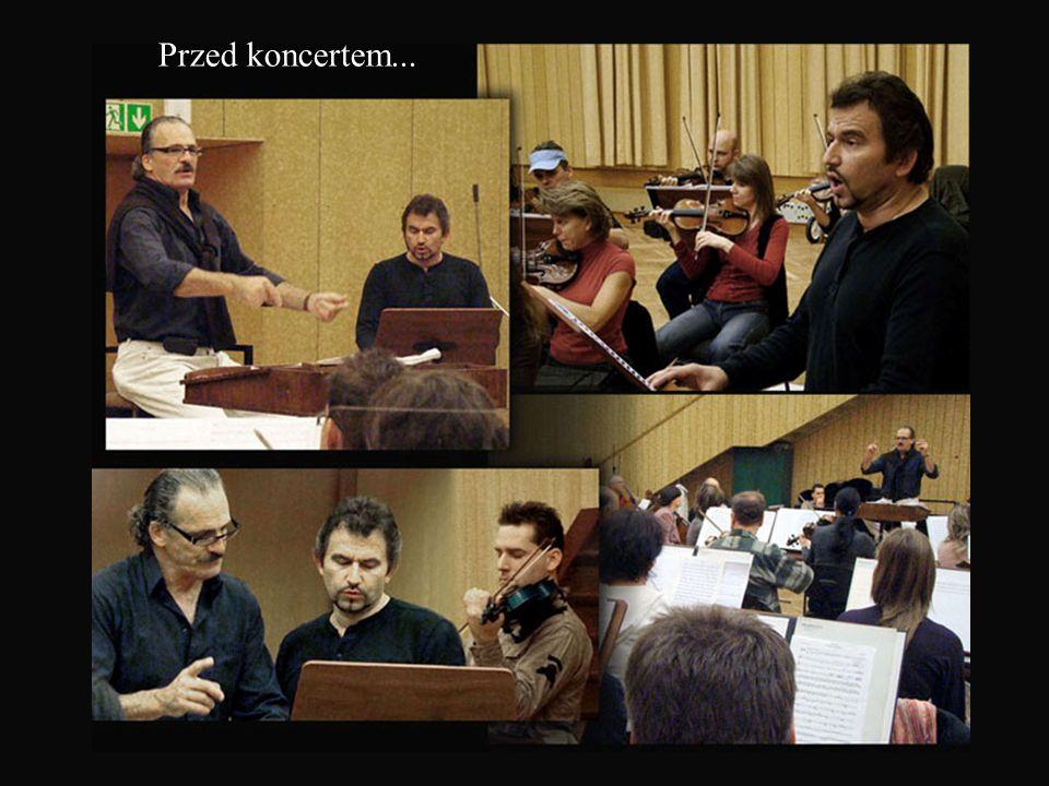 Od prawej: Christophe Voisé- dyrygent/kompozytor Anna Pioterczak - sopran Dariusz Stachura - tenor Dawid Lubowicz - skrzypce