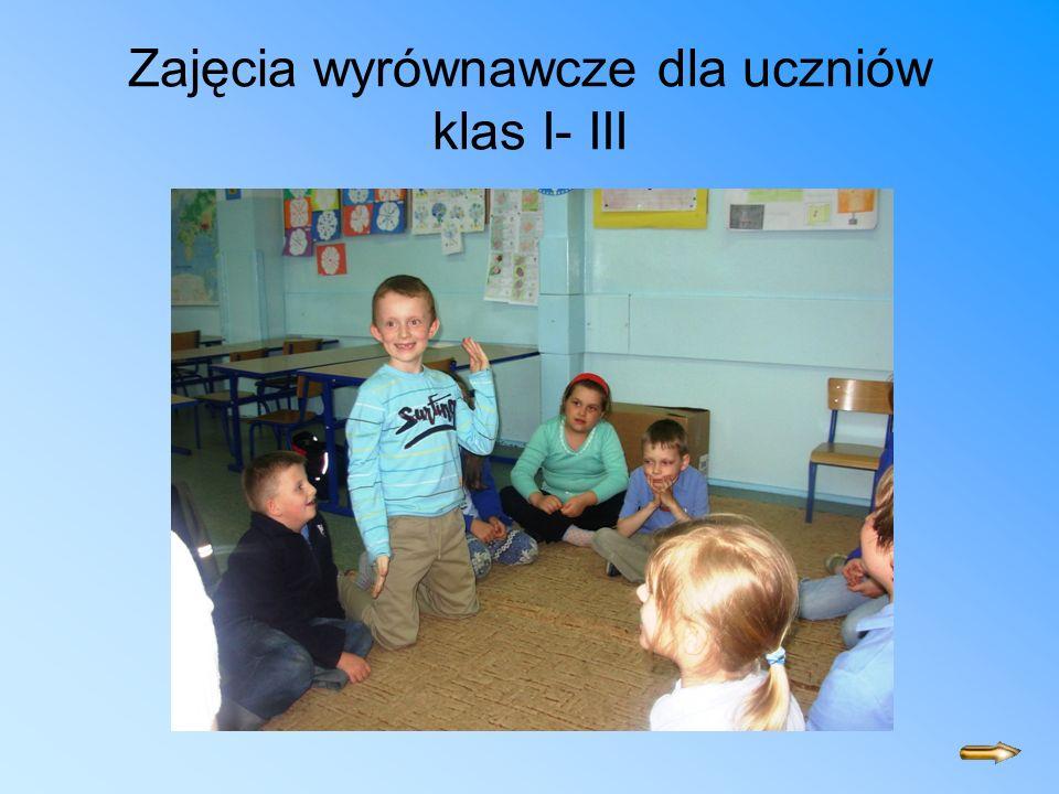 Zajęcia wyrównawcze dla uczniów klas I- III