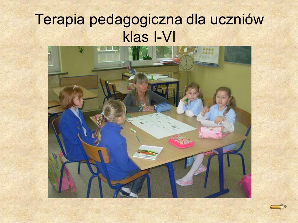 Terapia pedagogiczna dla uczniów klas I-VI