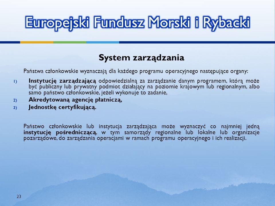 System zarządzania Państwa członkowskie wyznaczają dla każdego programu operacyjnego następujące organy: 1) Instytucję zarządzającą odpowiedzialną za