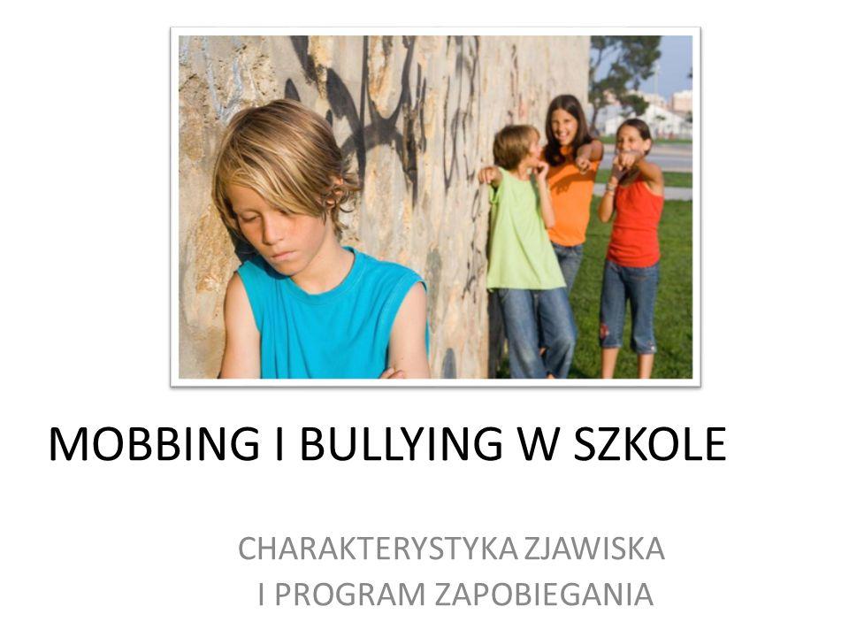 MOBBING I BULLYING W SZKOLE CHARAKTERYSTYKA ZJAWISKA I PROGRAM ZAPOBIEGANIA