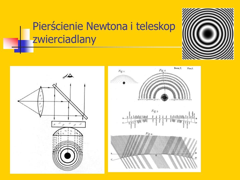 Pierścienie Newtona i teleskop zwierciadlany