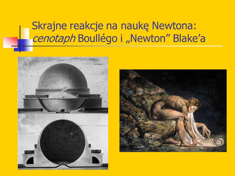 Skrajne reakcje na naukę Newtona: cenotaph Boullégo i Newton Blakea