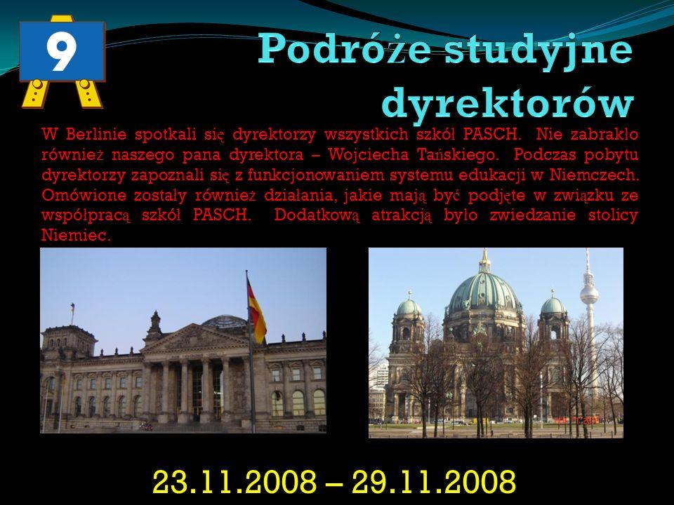 05.07.2009 – 25.07.2009 Kolejnymi stypendystami byli Wiktor Królikiewicz oraz Adam Wa ś niewski.