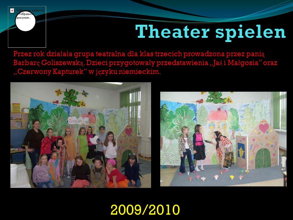 2009/2010 Przez rok dzia ł a ł a grupa teatralna dla klas trzecich prowadzona przez pani ą Barbar ę Goliszewsk ą. Dzieci przygotowa ł y przedstawienia