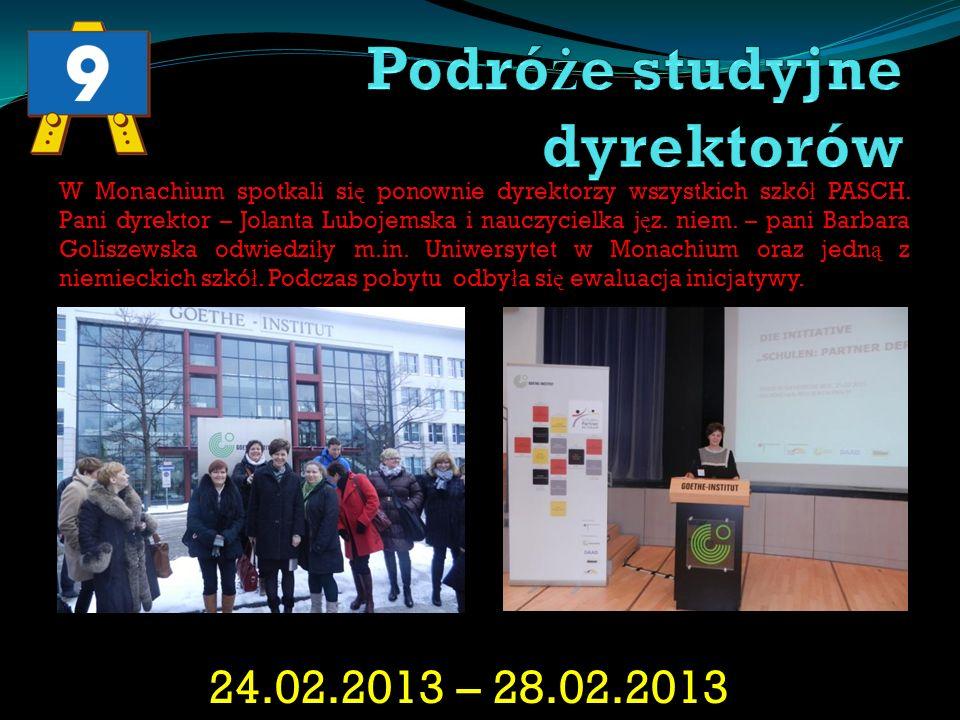 18.07.2010 – 07.08.2010 W roku 2010 stypendium w Niemczech otrzyma ł a Kamila Szyma ń ska.