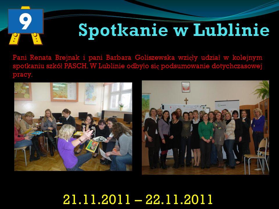 22.11.2012 – 23.11.2012 W Warszawie odby ł o si ę kolejne spotkanie dyrektorów i germanistów szkó ł PASCH.
