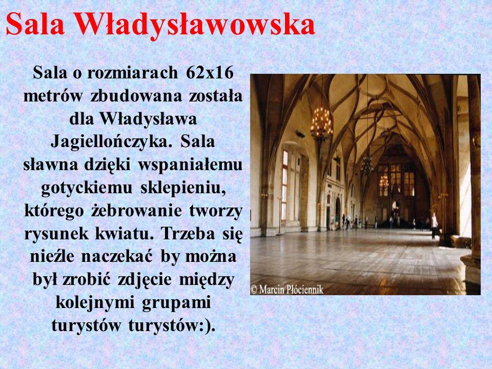 Sala Władysławowska Sala o rozmiarach 62x16 metrów zbudowana została dla Władysława Jagiellończyka. Sala sławna dzięki wspaniałemu gotyckiemu sklepien