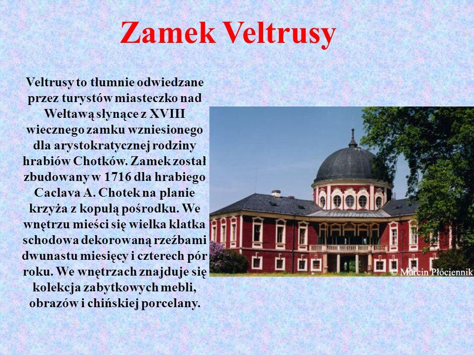 Veltrusy to tłumnie odwiedzane przez turystów miasteczko nad Wełtawą słynące z XVIII wiecznego zamku wzniesionego dla arystokratycznej rodziny hrabiów